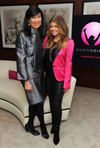 Andrea-Jung-and-Fergie-at-the-launch-of-Avon-Voices